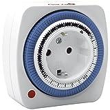 Garza 400603 Temporizador analógico Mini, Blanco-Azul