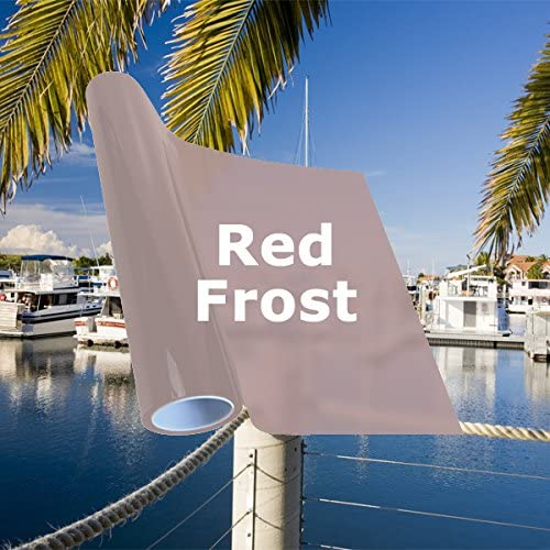 Red Frost Window Department store Tinting Film 10 New sales Inch 60 x Feet