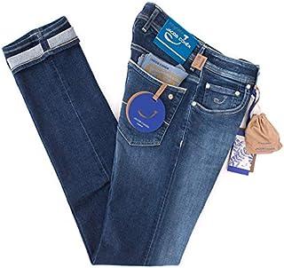 [ヤコブコーエン] J622 LIMITED COMFORT ジーンズ leather patch. ターコイズブルーハラコ リミテッドシリーズ メンズ