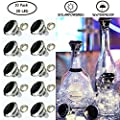 YITING Solar Diamond Shaped Wine Bottle Cork Lights 10 Pack Solar String Fairy Lights Outdoor Waterproof for Wedding Holiday Garden Patio Pathway Bar Concert Indoor Outdoor Decorative (Cool White)