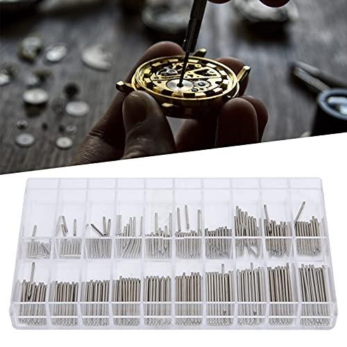 Kit de reparación de correa de reloj de acero inoxidable, pasador de correa de reloj de 1,0 mm de grosor, accesorios de reparación de reloj con barra de fricción de 8-27 mm para relojero