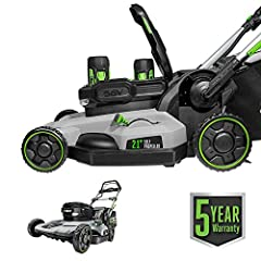 PeakPower technology allows for combined power of any 2 EGO ARC Lithium batteries Up to 80 minutes of run time on single charge with two included 56V 5. 0 Ah ARC Lithium batteries High-efficiency brushless motor Variable Speed Self-Propel: . 9 MPH – ...