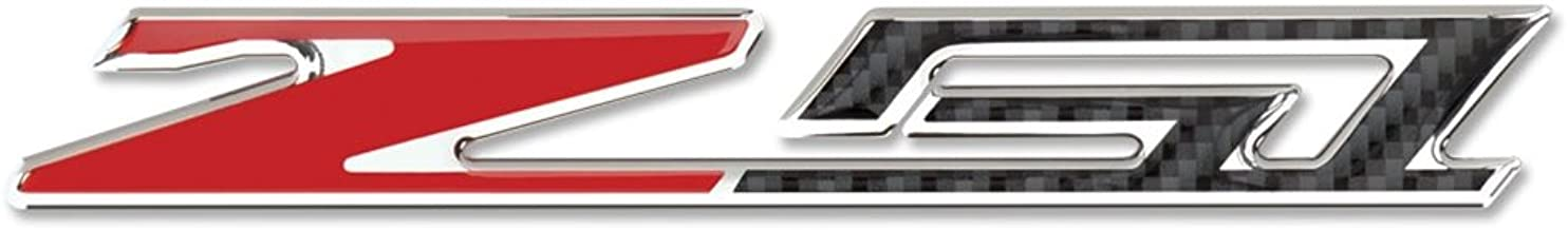West Coast Corvette - Corvette C7 Z51 Badge Emblem - Domed - Carbon Fiber Look w/Chrome Trim: C7 Stingray Z51 (3 inch)