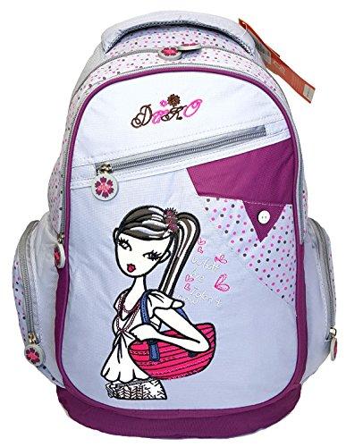 GFM Zaino per la scuola. Ragazzi Ragazze (Duv033 - Cool Girl - Grey)
