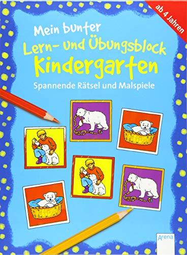Spannende Rätsel und Malspiele: Mein bunter Lern- und Übungsblock KINDERGARTEN (Kleine Rätsel und Übungen für Kindergartenkinder)