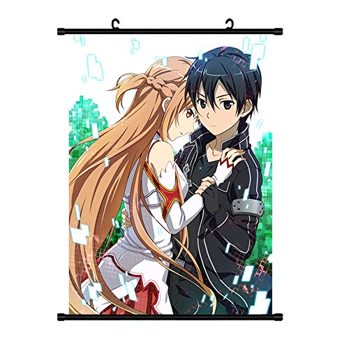 NLJ-lug Sword Art Online、Sao Anime Manga Wandposter Scroll Home Dekoration Wand Kunst Film Poster,30X45Cm
