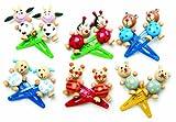 small foot 7348 Haarspangen'Tiere', 7-er Set à 2 Spangen, Haarspangen mit niedlichen, bunten Tierfiguren aus Holz