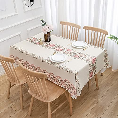 YDyun Mesa de Comedor Lavable Cubierta de Lino de Tela con Impresión de PVC Simple