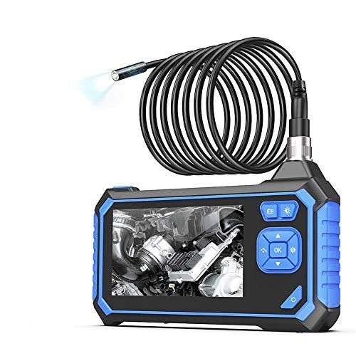 Cámara de Inspección VOLADOR, Endoscopio Industrial 5,5 mm, Pantalla LCD en Color de 4,3 pulgadas, 1080P HD Cámara de Inspección de Boroscopio, 6 LED, con Batería de Litio de 2600mah, 5M