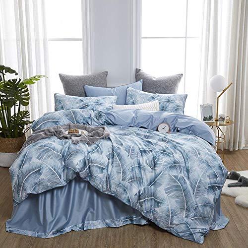 Lujoso juego de ropa de cama de algodón egipcio con diseño de flores europeas de Reina King Size