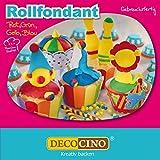 DECOCINO Rollfondant-Set Bunt – 4x 100 g – ideal zum Verzieren von Kuchen, Torten, Cupcakes – Palmölfrei & laktosefrei