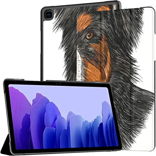 Funda para Samsung Galaxy Tab A7 Tablet de 10,4 Pulgadas 2020 (sm-t500 / t505 / t507), Bernese Mountain Dog Marrón Blanco Negro Funda con Soporte de múltiples ángulos con activación/suspensión Auto