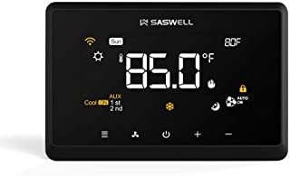Wi-Fi Smart Thermostat for Smart Home, Compatible with Alexa, Saswell T29UTW-7-WIFI(TY)(Does not include accessories)