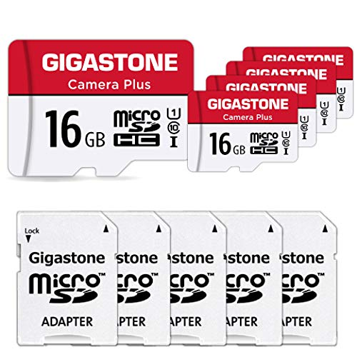 Gigastone 64GB 5-Pack Micro SD Card, Camera Plus, Nintendo Switch Compatible, High Speed 95MB/s, 4K Video Recording, Micro SDXC UHS-I A1 Class 10