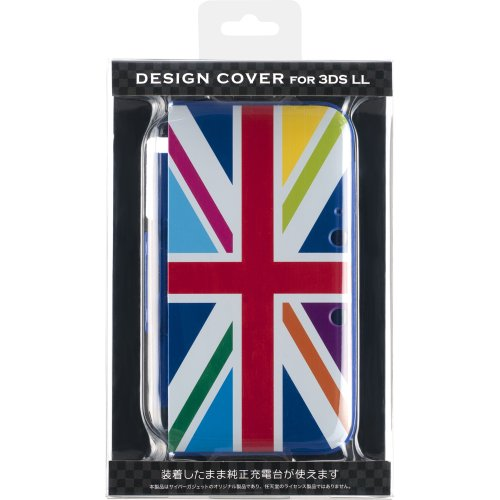 CYBER ・ DESIGN COVER ( 3DS LL 用) ユニオンジャックレインボー 【専用充電台 併用可能】