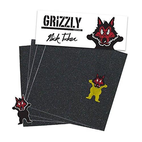 Grizzly Pro Nick Tucker Wolf Grip für Skateboard Unisex Erwachsene, Mehrfarbig