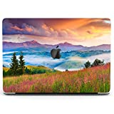 Wonder Wild Case for MacBook Air 13 inch Pro 15 2019 2018 Retina 12 11 Apple Hard Mac Protective Cover Touch Bar 2017 2016 2020 Plastic Laptop Print Rainbow Landscape Countryside Hills Nature Sunset