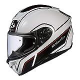オージーケーカブト(OGK KABUTO)バイクヘルメット フルフェイス AEROBLADE5 SMART(スマート) ホワイトブラック (サイズ:M) 575182