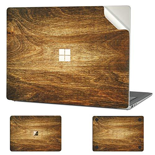 Digi-Tatoo Schutzfolie für Microsoft Surface Laptop Go, einfache Anbringung, Ganzkörper-Schutz, dekorativ, Vinyl, Holztextur