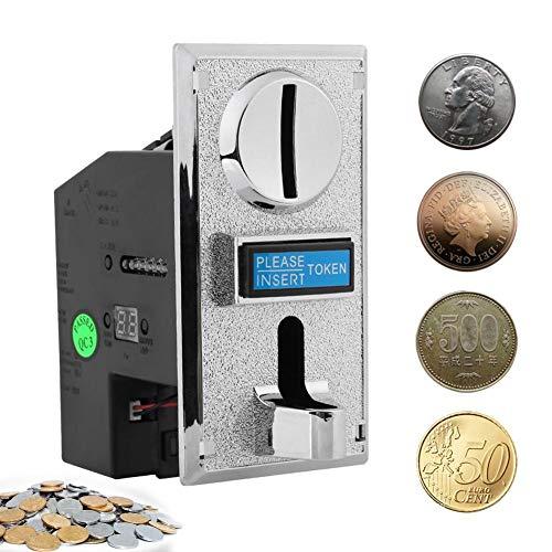 Akozon Münzprüfer 6 Arten Münzen Selector Akzeptor Validator Multi-Münzeinwurf Coins Geldspieler Münz-Collector für Automaten Arcade-Spiel,Münztelefon,Münzwaschmaschinen und Münz-Spielzeugautos
