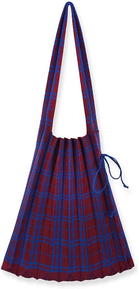 Wool retro grind wrinkle folding knitted Charlotte Popularity Mall linen bag shoulder