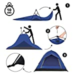 Lumaland Outdoor Camping Pop Up 3 Person Tent 210 x 190 x 110 cm - Waterproof Fast Pitch Easy Setup - extra seam taped…