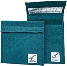 HelloEco Reusable 2 Pack | Foil Insulated Bag | Burrito, Snack & Sandwich | Eco-Friendly To-Go Bag | Food Wrap | Kids & Adults Velcro Close Canvas | Food Storage Organizer | Zero Waste
