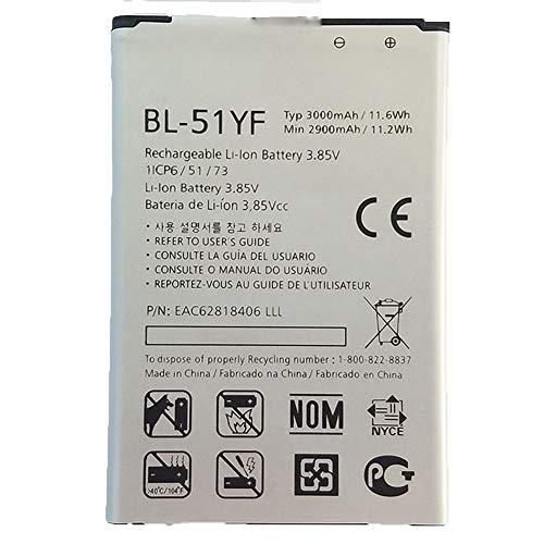LG互換バッテリーLG G4 H810 H815 H818 H819 F500/S/L/K BL-51YF交換用のバッテリー 電池互換3000mAh/11.6Wh 3.85V(この商品は日本から出荷されます、翌日発送 祝日を除く)