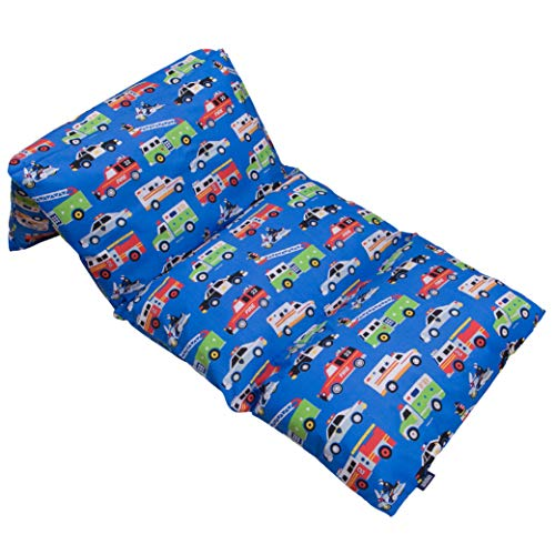 Wildkin Kids Pillow Lounger for Boys and Girls, Travel-Friendly and Perfect for Sleepovers, Requires 4 Standard Size Pillows (Not Included), Measures 69.5 x 27 Inches, BPA-Free (Heroes)