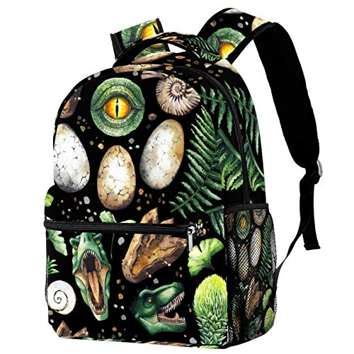 Sports Backpack Gym Bags with Shoe Compartment Wet Pocket Travel Backpacks Anti-Theft Pocket Water Resistant Workout Bag (Colorful)Dinasour Tropical