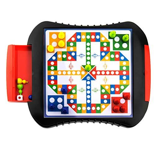 TOYANDONA Vliegtuig Schaakspel Magneet Schaakbord Puzzel Paddestoel Nagels Pegboard Diy Mozaïek Speelgoed Lade Checker Voor Kinderen Kinderen Cadeau 25. 8X22x3cm