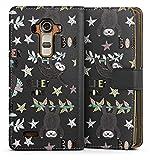 DeinDesign Étui Compatible avec LG G4 Étui Folio Étui magnétique Paresseux Transparent Étoiles