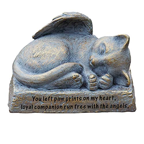 Roman Garden - Cat with Wings Garden Statue, 6H, Garden Collection, Resin and Stone, Decorative, Memorial Gift, Garden Gift, Home Outdoor Decor, Durable, Long Lasting