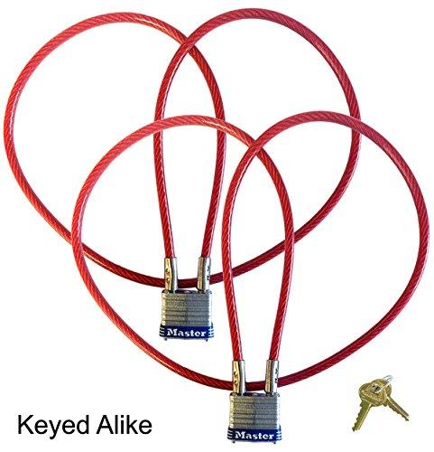 Motorcycle Helmet/Jacket, Multi Purpose 3 ft. Cable Locks - Master Lock #719KA - 2 Keyed Alike
