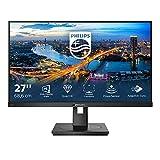 Philips 275B1 - Monitor da 68 cm (27 pollici), DVI, HDMI, DisplayPort, Hub USB, tempo di risposta 4 ms, 2560 x 1440, 75 Hz, FreeSync, Pivot), colore: Nero