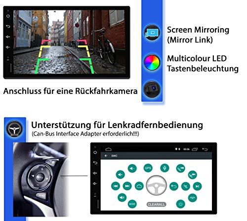 Tristan Auron BT2D7018A Android 10 Autoradio mit Navi + DAB Box I 7 Touchscreen - GPS Bluetooth Freisprecheinrichtung I 32GB OBD 2 USB SD 2 DIN