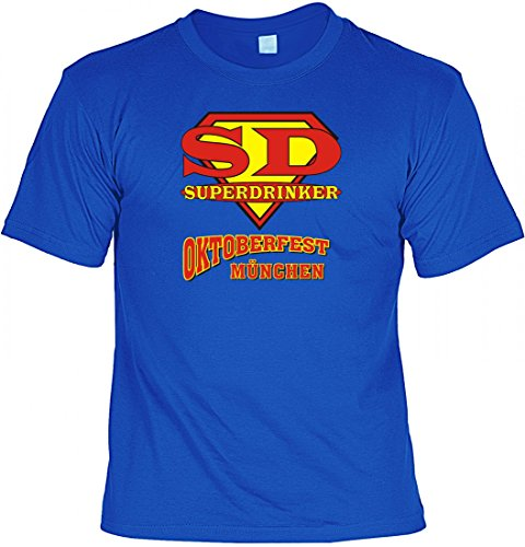 Witziges Wiesn Fun T-Shirt - Superdrinker Oktoberfest München - Geschenk Idee mit Humor als Trachten Ersatz fürs Bierzelt, Größe:3XL