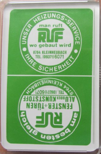 RUF Fenster & Türen - Skatspiel - franz. Blatt