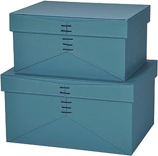 2 grandes boîtes de rangement en tissu, paniers de rangement pliables, boîtes de rangement décoratives, boîtes de rangemen...