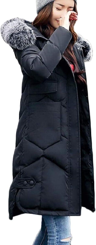 TymhgtCA Women's Thicken FauxFur Collar Parka Hoodies Quilted Down Jacket Coat