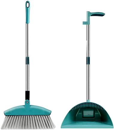 Catinbow Broom Dustpan Set -Combination with A Scraping Brush Soft Hair Magic Broom for Indoor&Outdoor Household