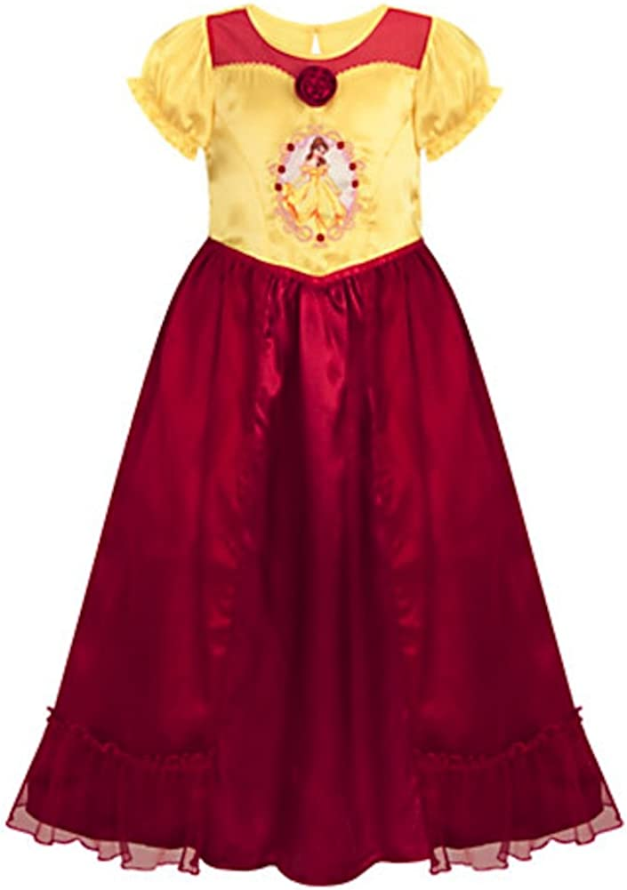 Disney Store Deluxe Belle Nightgown for Girls Beauty and The Beast