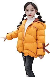 MONIVEVE Toddler Baby Girl Jacket Bowknot Winter Windproof Solid Hooded Coat Toddler Floral Hooded Jacket