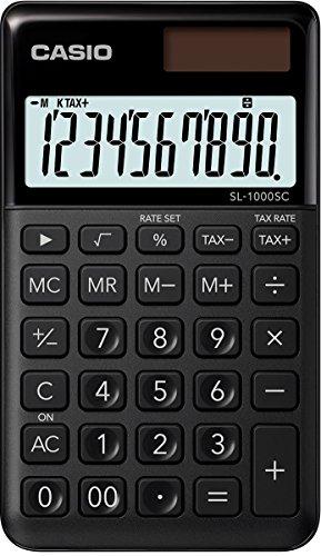 Casio SL-1000SC-BK stylischer Taschenrechner, 10-stellig, in sechs Farbvarianten