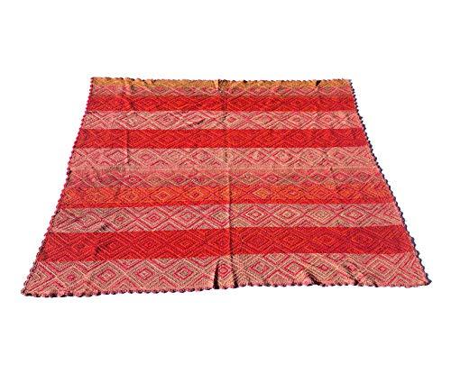 Kiwa - Alfombra tejida a mano, fabricada en Perú, 160 x 155 cm, multicolor