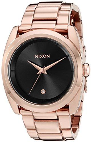 Nixon Women's A9352046 Queenpin Analog Display Japanese Quartz Rose Gold Watch