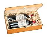 Boîte double pour deux de bouteille de vin 'Dimensions intérieures: W33cm x 18cm environ x H7,5cm 'Dimensions extérieures: lg x 20cm environ x H9,5cm L'intérieur est amovible par conséquent peut être utilisé comme boîte de rangement Idéal pour...