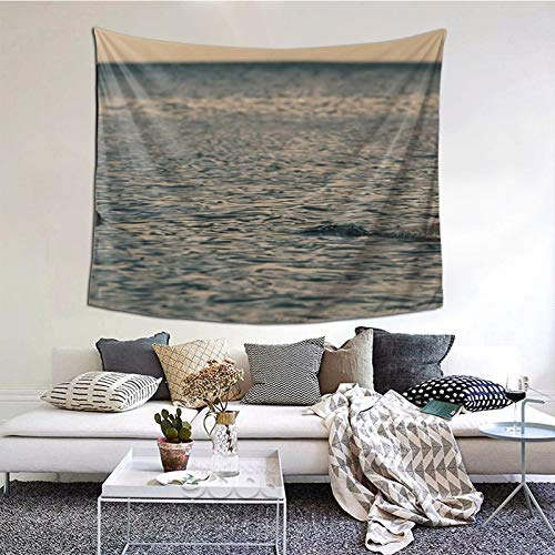 Perfect household goods Tapiz para colgar en la pared, diseño de tiburón de perro y mar, estilo vintage, tapiz de microfibra de melocotón, decoración del hogar, 152 x 132 cm