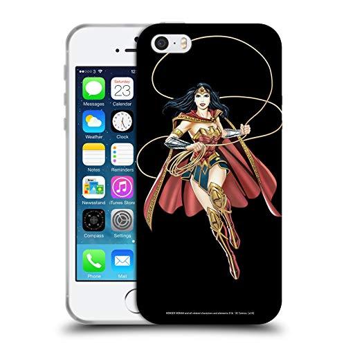 Head Case Designs Licenza Ufficiale Wonder Woman DC Comics Lasso of Truth Arte Personaggio Cover in Morbido Gel Compatibile con Apple iPhone 5 / iPhone 5s / iPhone SE 2016