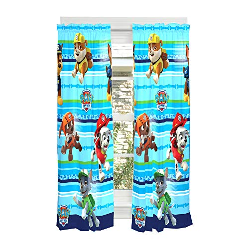 Franco Kids Window Curtain Panels Drapes Set, 82u0022 x 63u0022, Paw Patrol